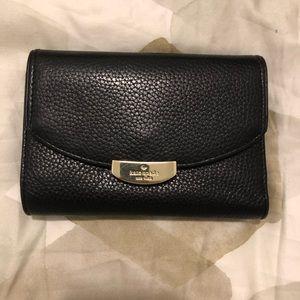 Kate Spade black pebbled wallet